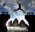 Girl jumps to the New Year 2015 - PhotoDune Item for Sale