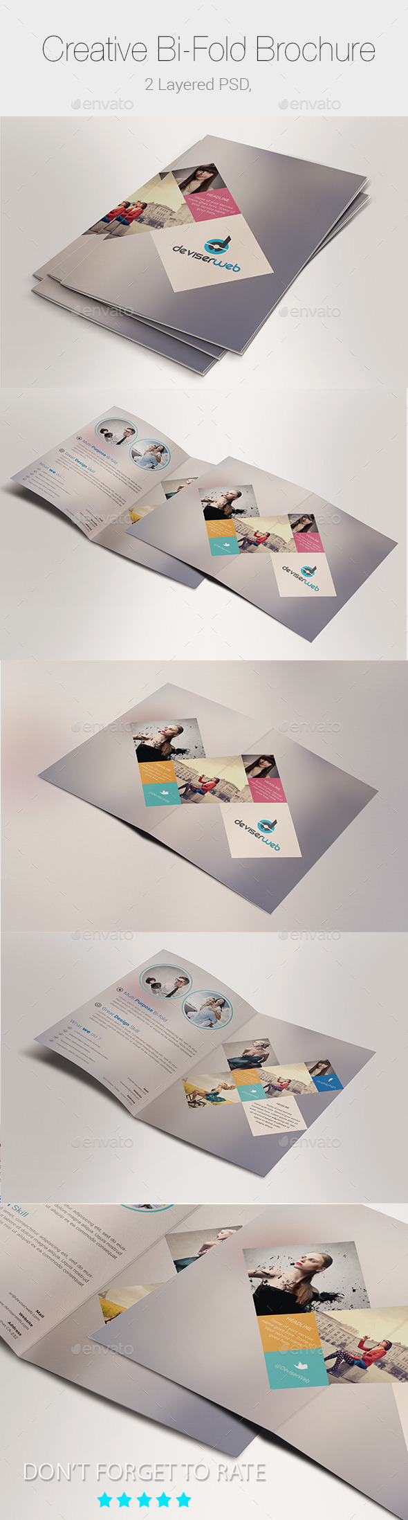 GraphicRiver Minimal Creative Bi-fold Brochure Templates 9635339