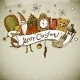 Hand-drawn New Year and Christmas Greeting Card - GraphicRiver Item for Sale