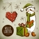 Christmas Greeting Card with Snowman - GraphicRiver Item for Sale