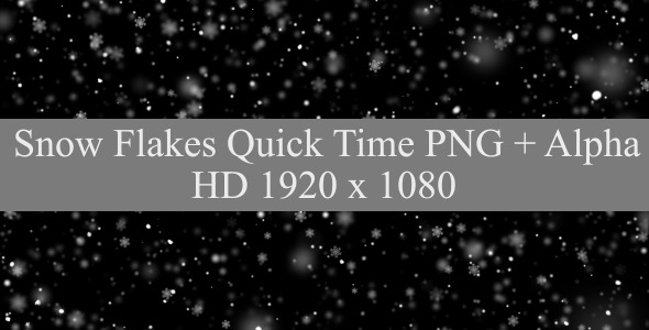 VideoHive Falling Flakes 9615229