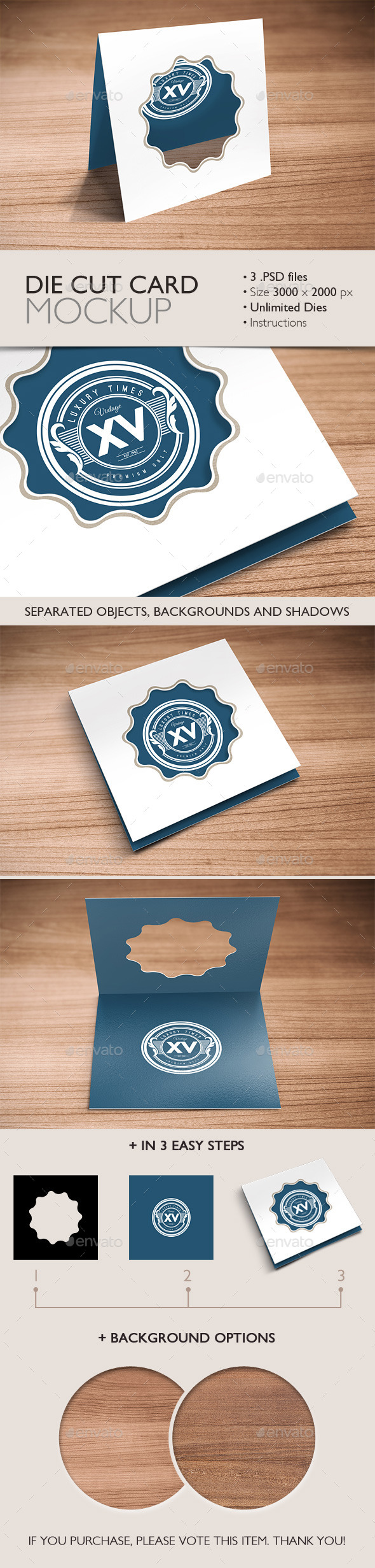 Die Cut Card Mockup