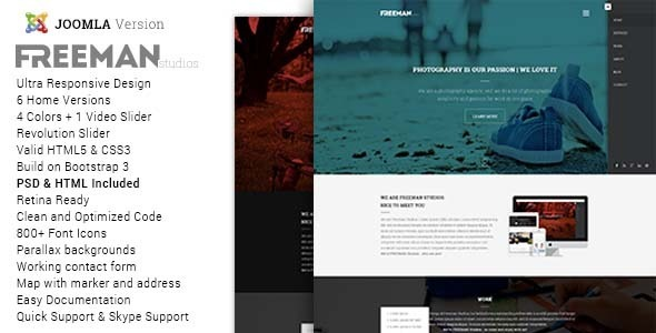 ThemeForest Freeman Multipurpose One Page Joomla Theme 9635887
