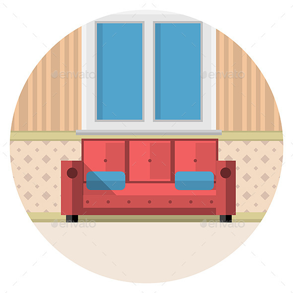 GraphicRiver Living Room Icon 9636565