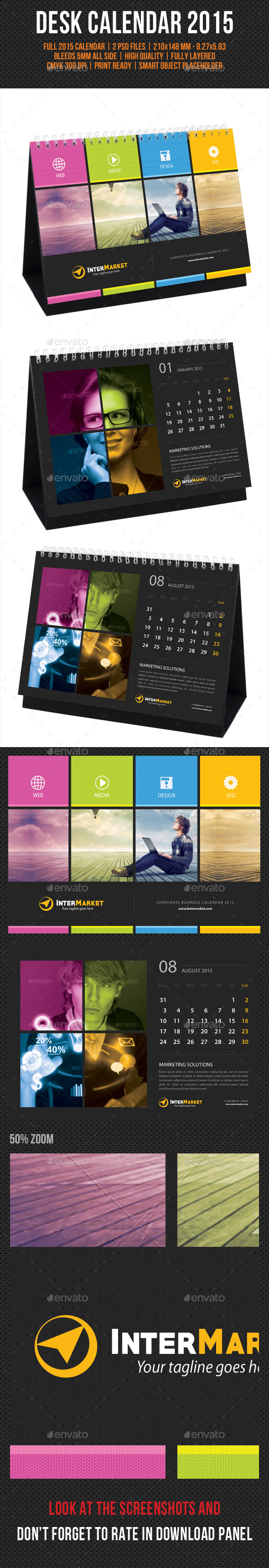GraphicRiver Corporate Desk Calendar 2015 V03 9636567