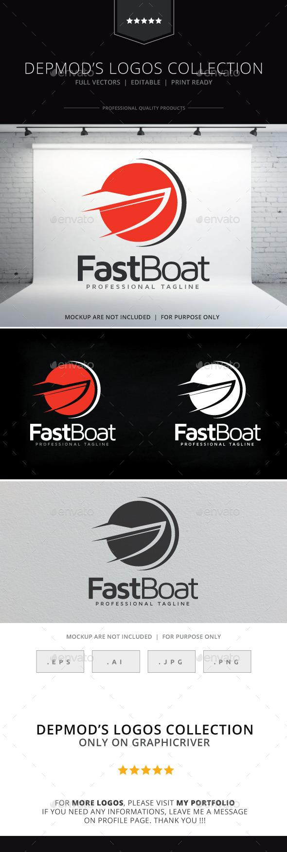 GraphicRiver Fast Boat Logo 9636572