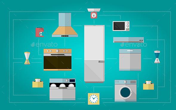 GraphicRiver Kitchen Appliances 9636574