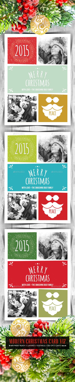GraphicRiver Modern Christmas Card V12 9588805