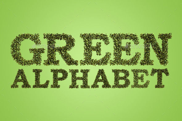GraphicRiver Green Alphabet 9636759