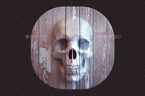 GraphicRiver Skull Icon 9636933
