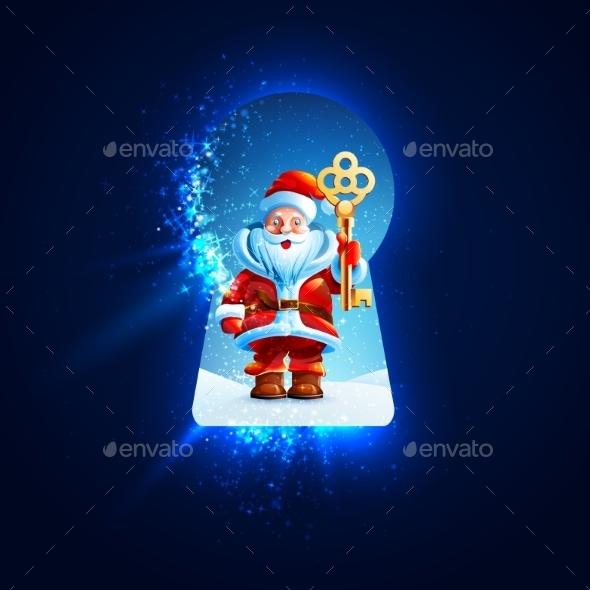 GraphicRiver Santa Claus Background 9637255