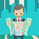 Businessman with a Map - GraphicRiver Item for Sale