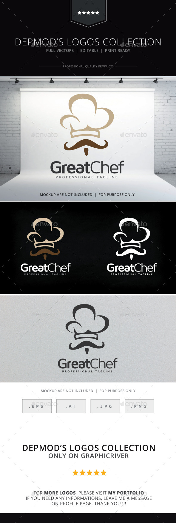GraphicRiver Great Chef Logo 9637289