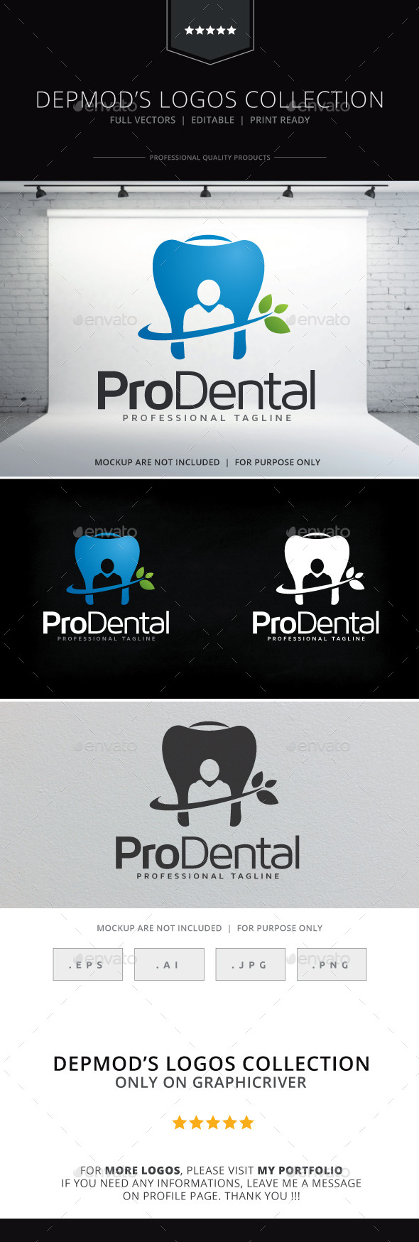 GraphicRiver Pro Dental Logo 9637298