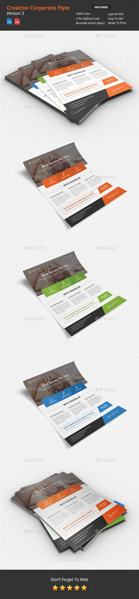 GraphicRiver Creative Corporate Flyer v3 9637302