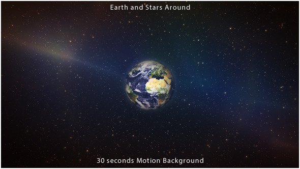 VideoHive Earth and Stars Around 9637306