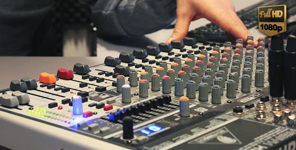 VideoHive Working With Sound Mixer 9637543