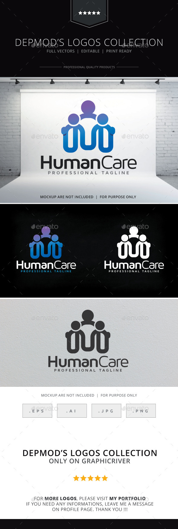 GraphicRiver Human Care Logo 9637620