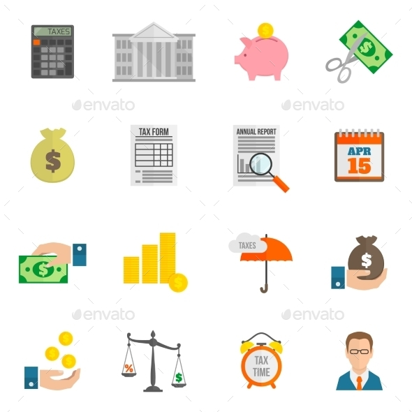 GraphicRiver Tax Icons 9637923