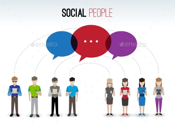 GraphicRiver Social People Concept 9637940