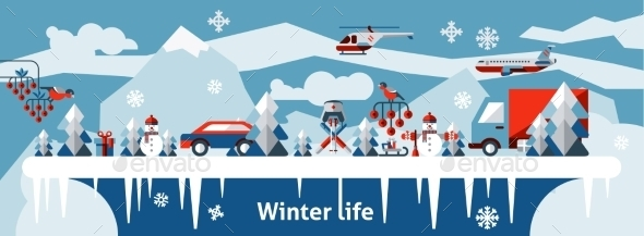 GraphicRiver Winter Life Background 9637945