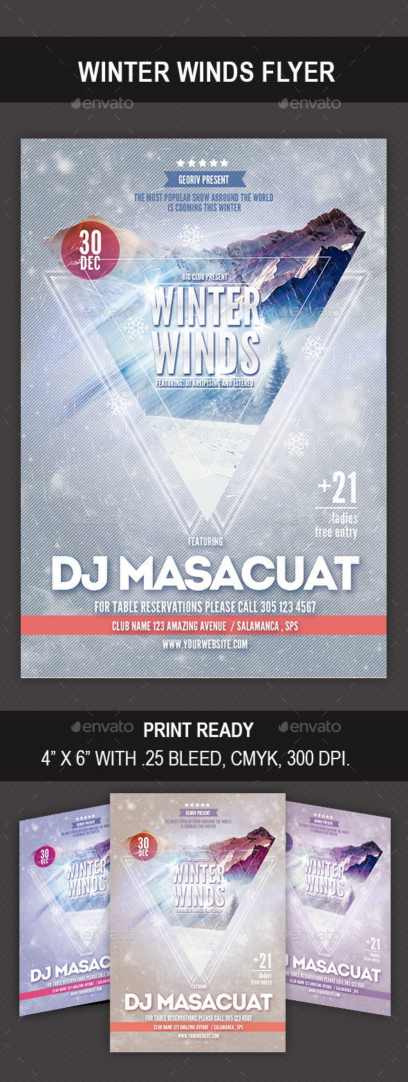 GraphicRiver Winter Winds Flyer 9637948