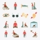 Disabled Icons Set Flat - GraphicRiver Item for Sale