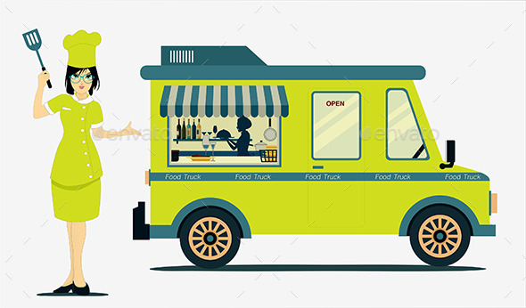 GraphicRiver Food Truck 9638170