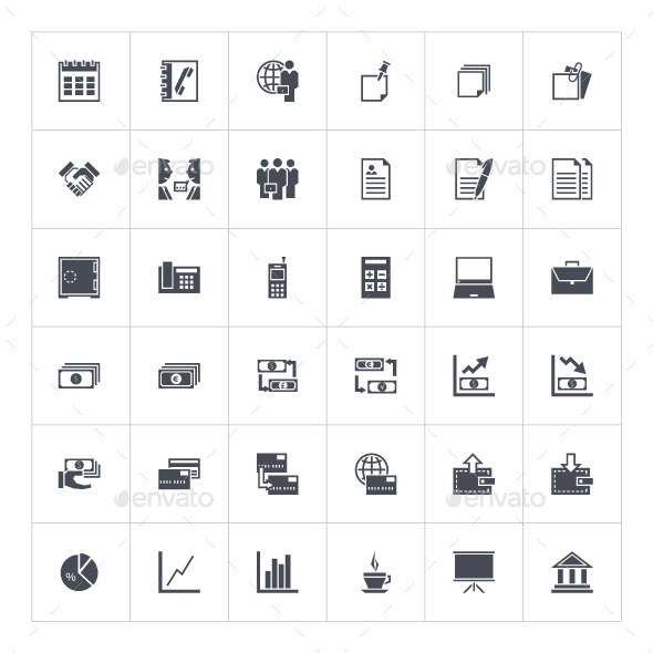 GraphicRiver Business Icons 9593855