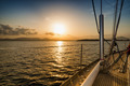 sunset on the sea from the sail boat - PhotoDune Item for Sale