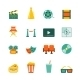 Cinema Flat Icons Set - GraphicRiver Item for Sale