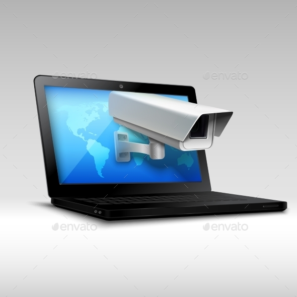 GraphicRiver Laptop Web Security 9638335