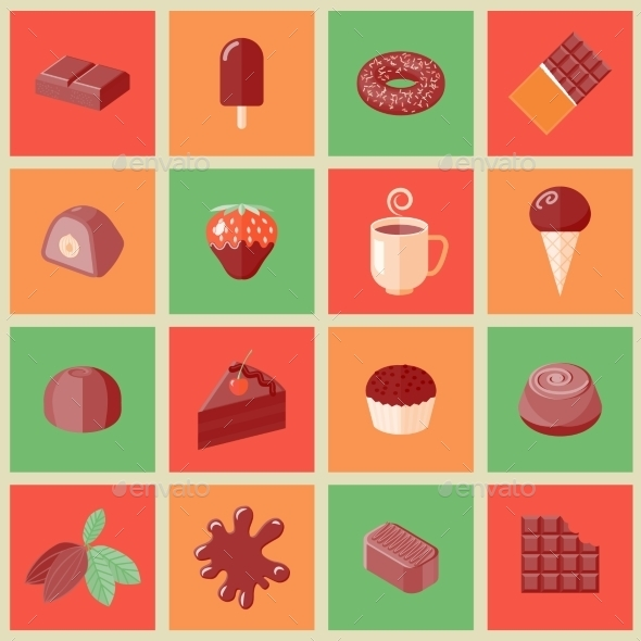 GraphicRiver Chocolate Icons 9638343