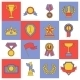 Award icons set flat line - GraphicRiver Item for Sale