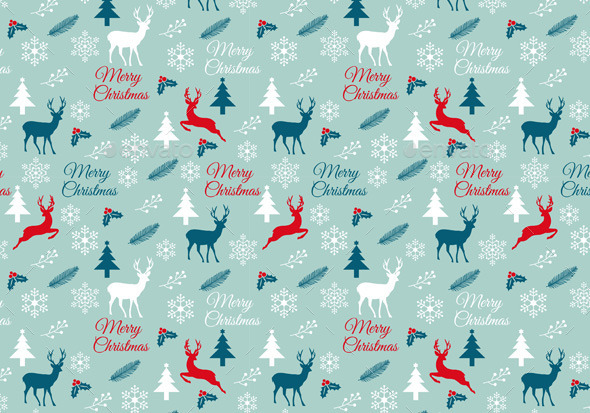 GraphicRiver Seamless Christmas Pattern Vector 9638397