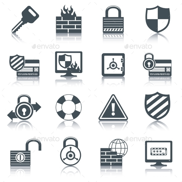 GraphicRiver Security Icons Set 9638413