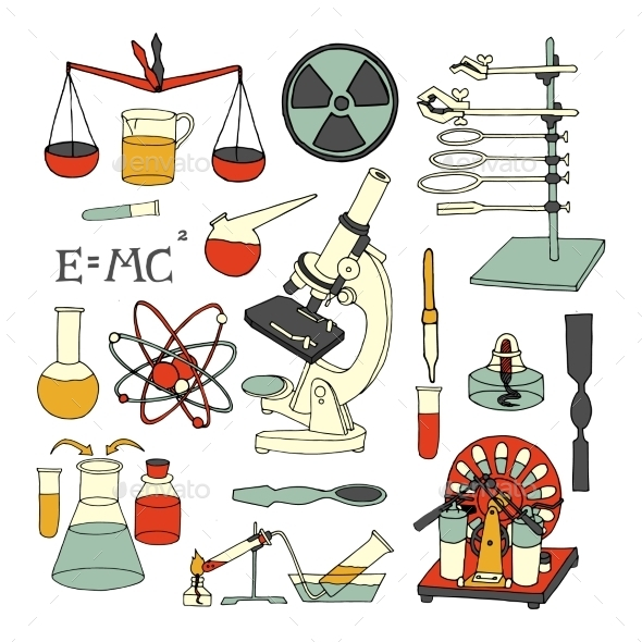 GraphicRiver Science Sketch Icons 9638422