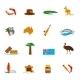 Australia Icons Set Flat - GraphicRiver Item for Sale