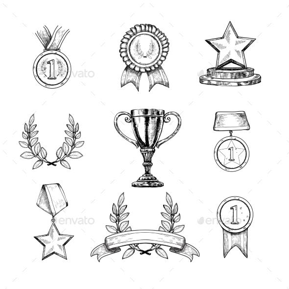 GraphicRiver Award Icons Set 9638498