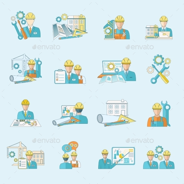 GraphicRiver Engineer Icons 9638504