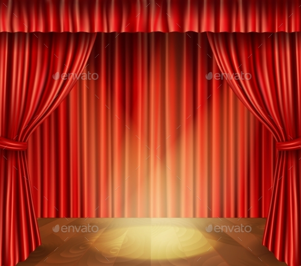 GraphicRiver Theater Stage Background 9638516