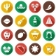 Mexico Flat Icons - GraphicRiver Item for Sale