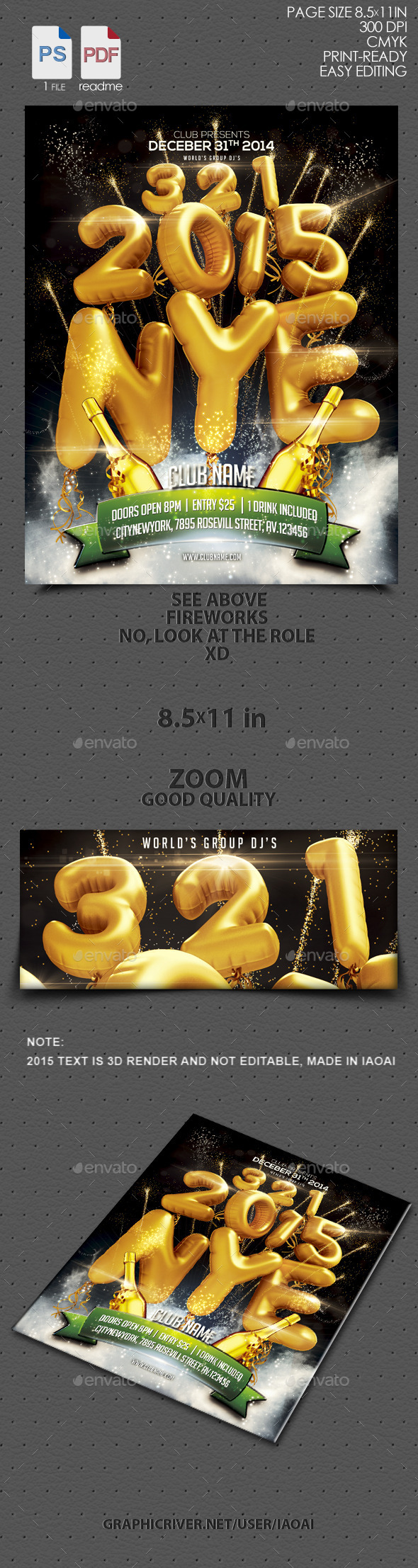 GraphicRiver 2015 nye flyer 9638536