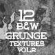 12 Black And White Grunge Textures VOL.2 - GraphicRiver Item for Sale