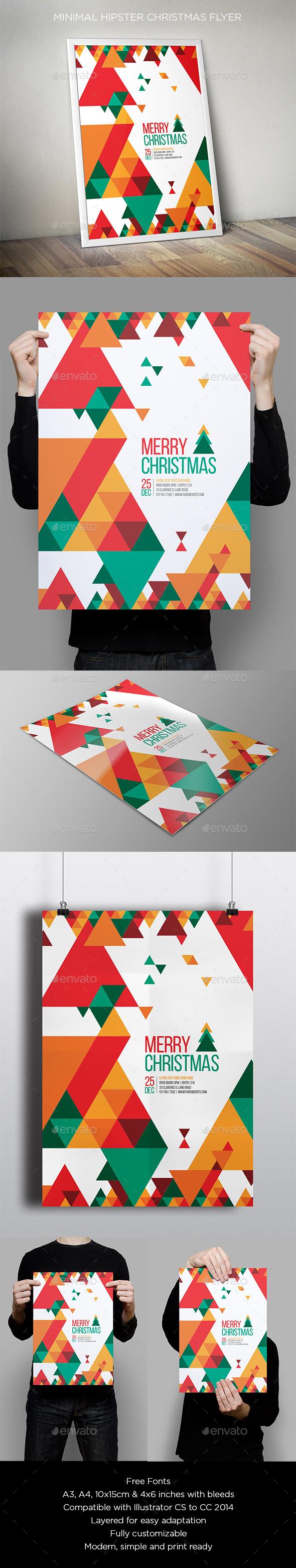 GraphicRiver Minimal Christmas Flyer 9638694