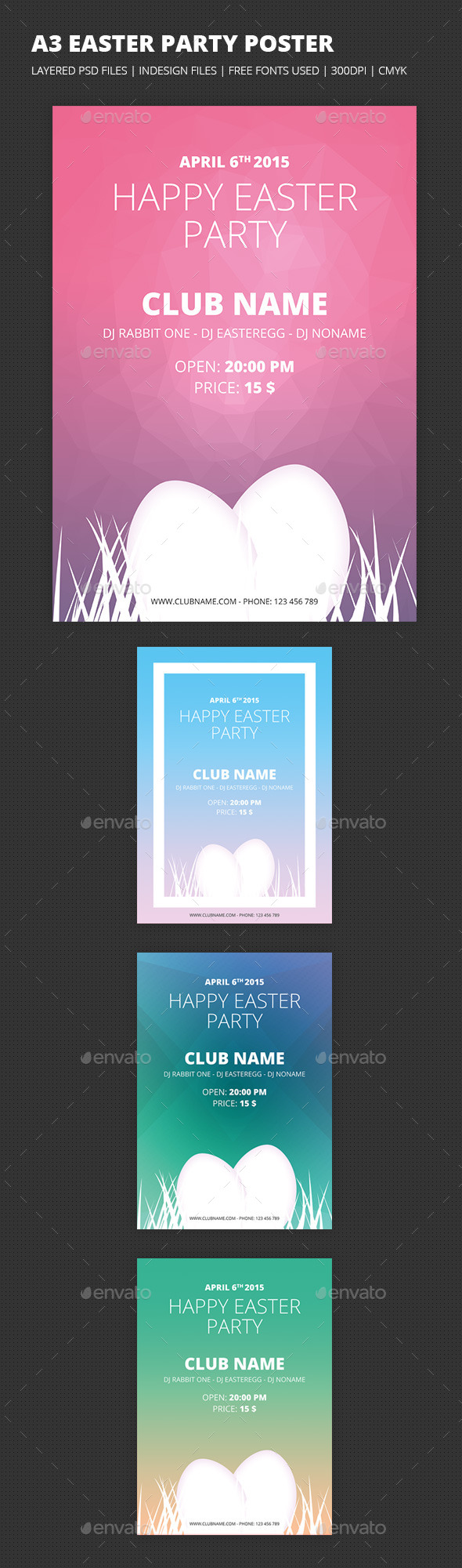 GraphicRiver A3 Easter Party Poster 9638771