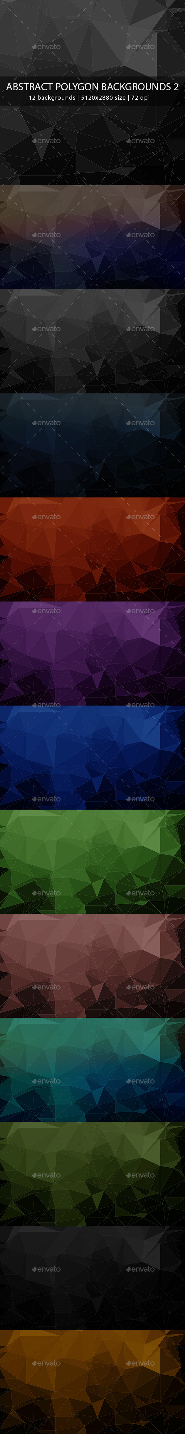 GraphicRiver Abstract Polygon Backgrounds 2 9638859