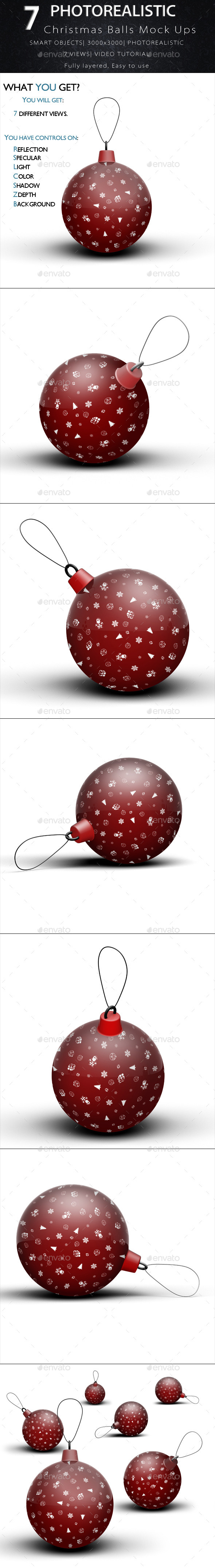 GraphicRiver Christmas Balls Mock Ups 9638971