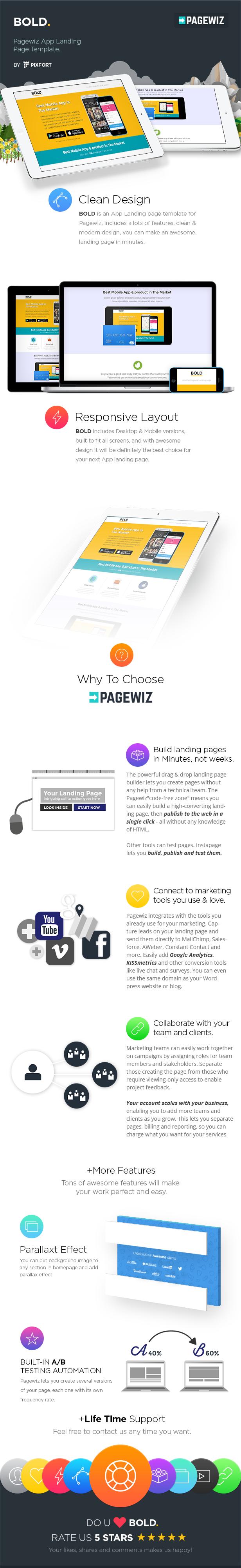 BOLD - Pagewiz App Landing Page Template - 3
