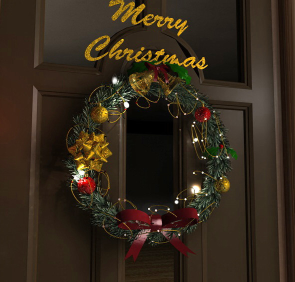 3DOcean Christmas wreath 9639052